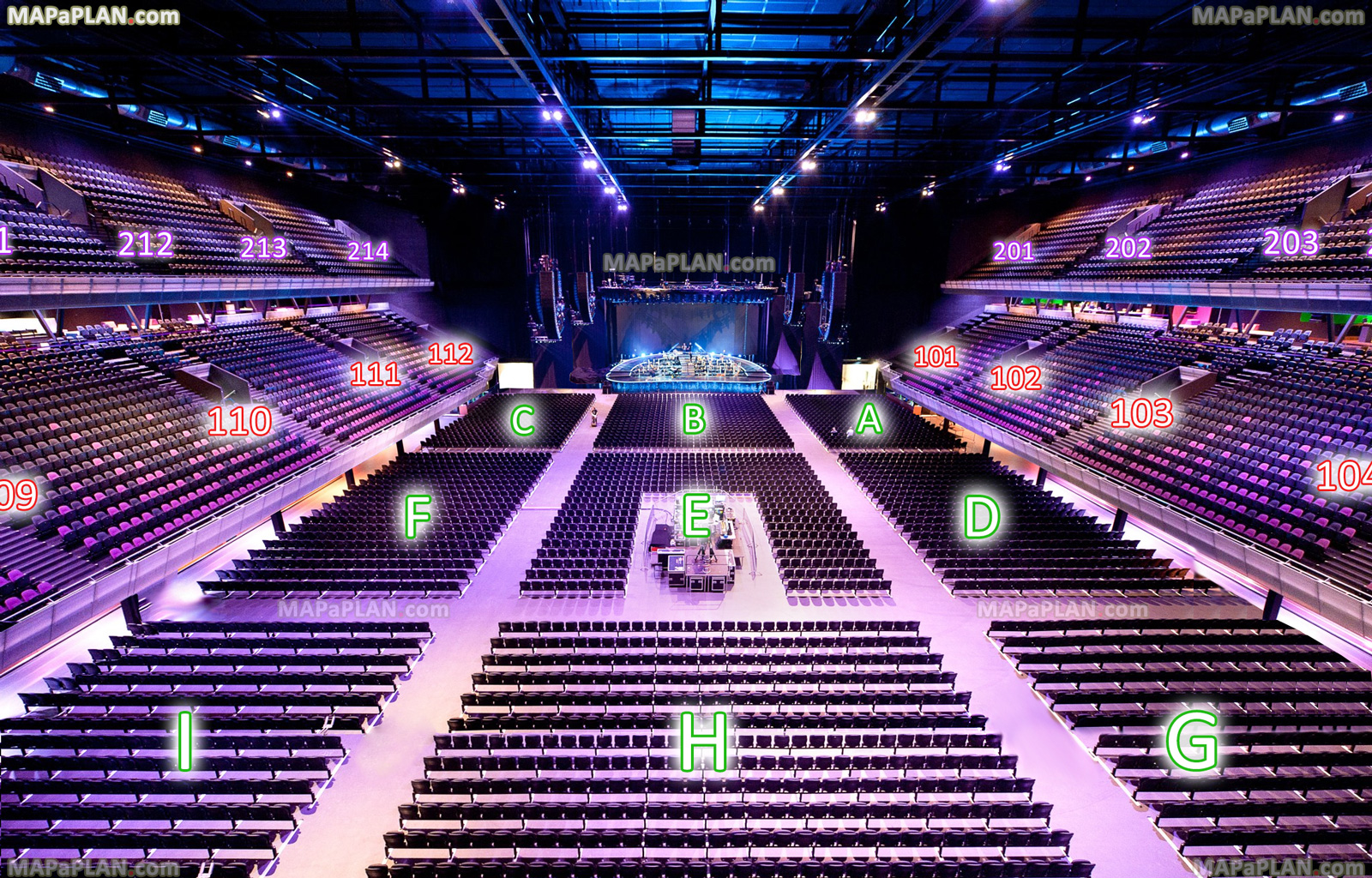 Betere Amsterdam Ziggo Dome Arena seat numbers detailed seating plan ZK-52