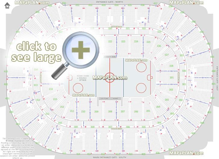 Honda Center Seat Row Numbers