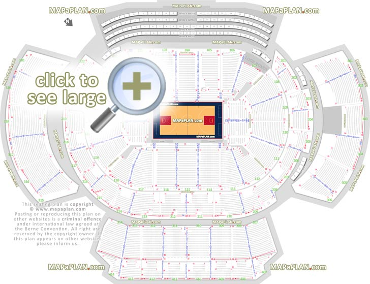 Philips Arena Seating Map Philips Arena seat & row numbers detailed seating chart, Atlanta  Philips Arena Seating Map