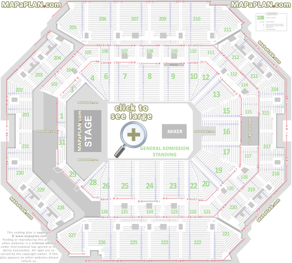 Barclays Center Brooklyn Nets Concerts Seat Numbers Detailed Seating Chart New York Mapaplan Com