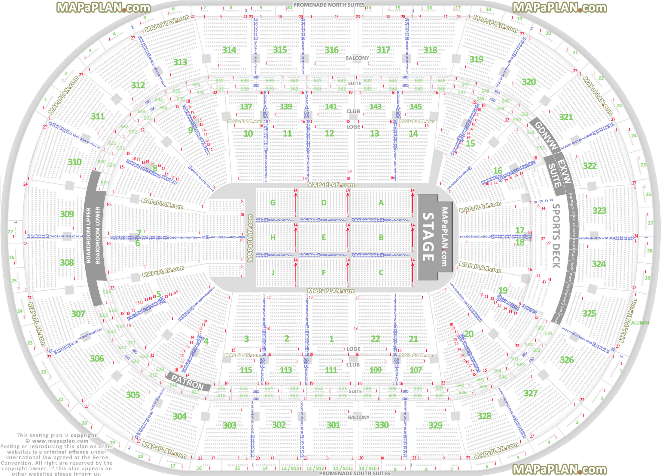 Td Garden Seating Chart Ed Sheeran
