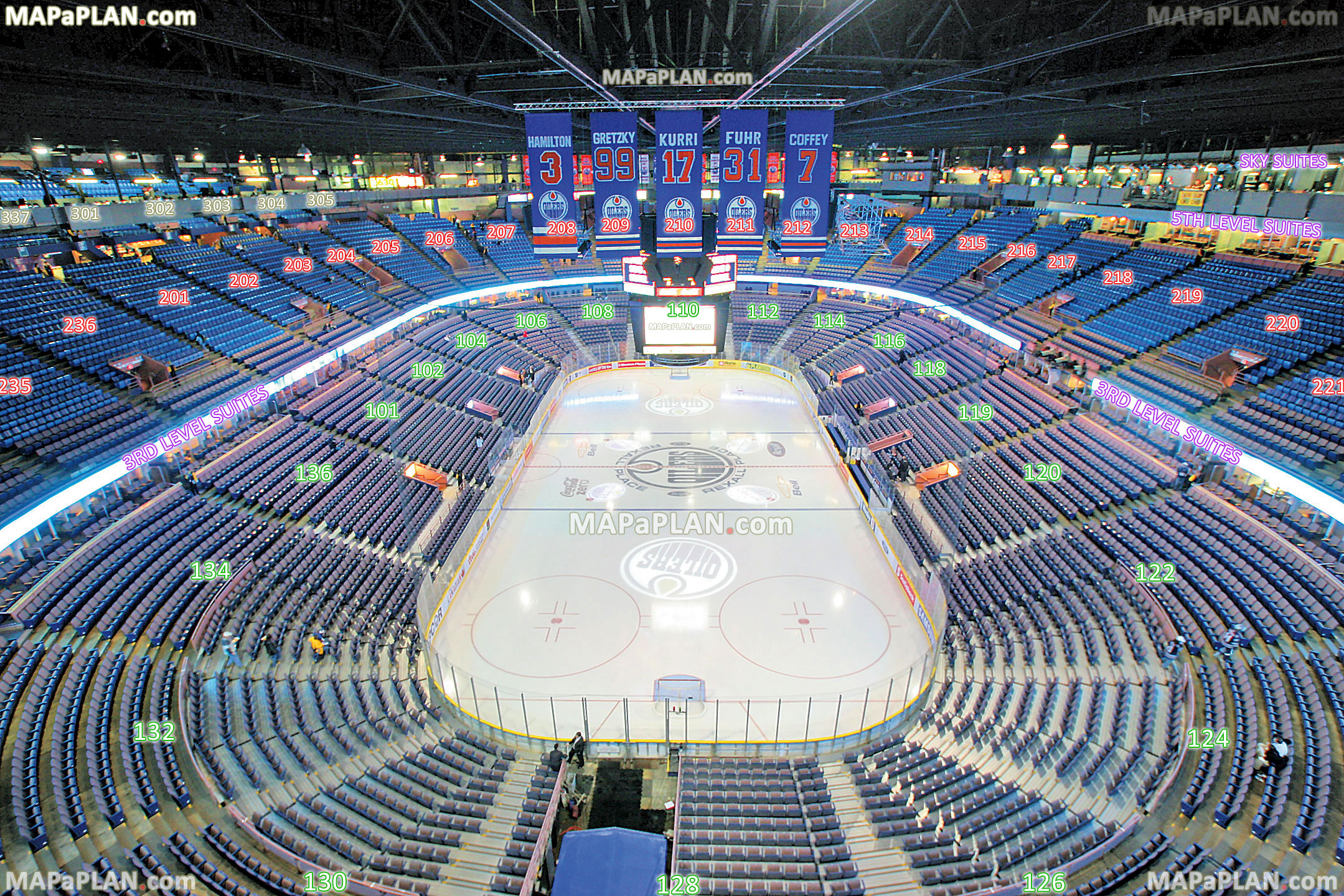 Rexall Place Map Rexall Place Edmonton seat numbers detailed seating plan  Rexall Place Map