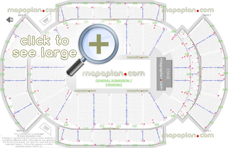 Madison Square Garden: Gila River Arena Seat & Row Numbers Detailed Seating Chart