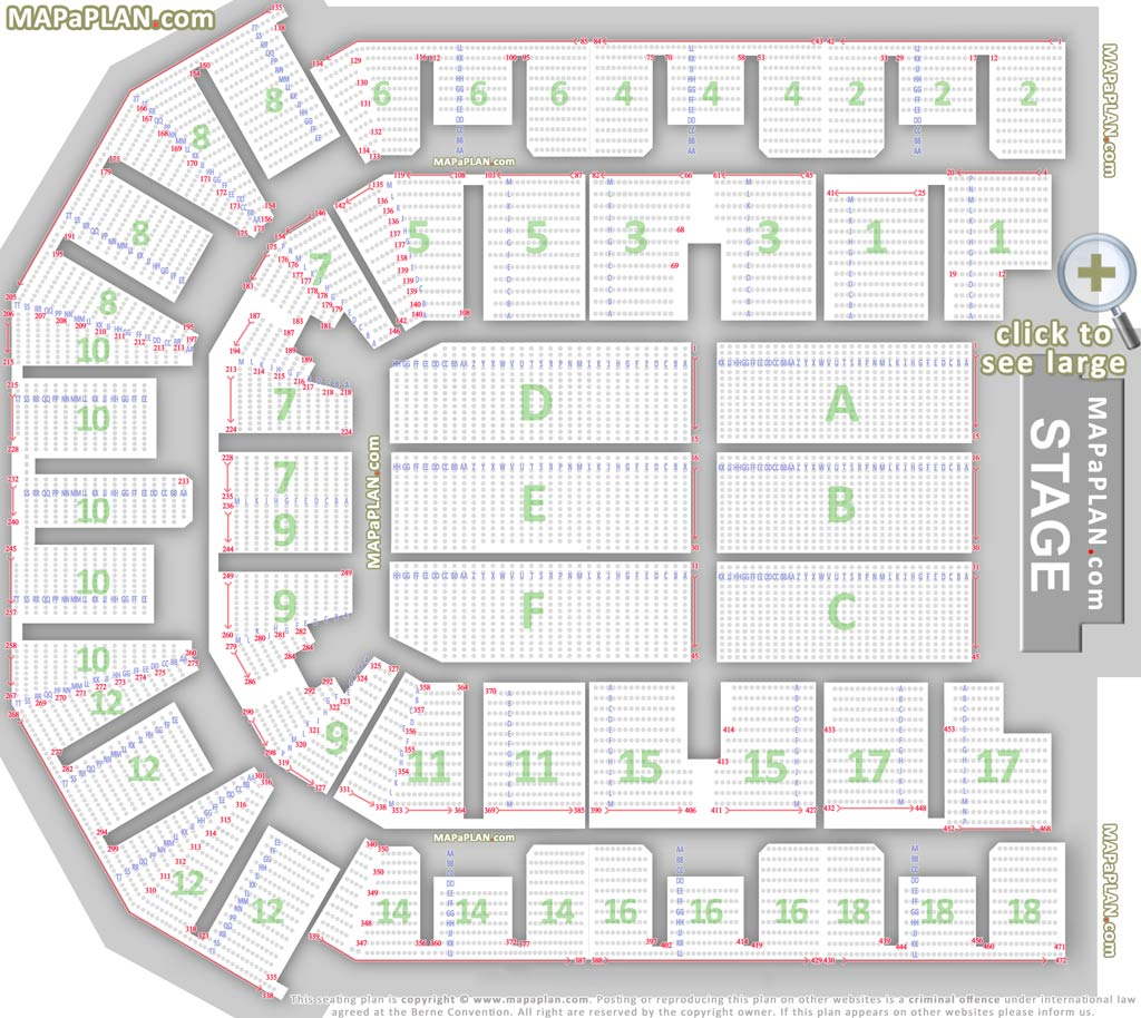 Liverpool Echo Arena Seat Numbers