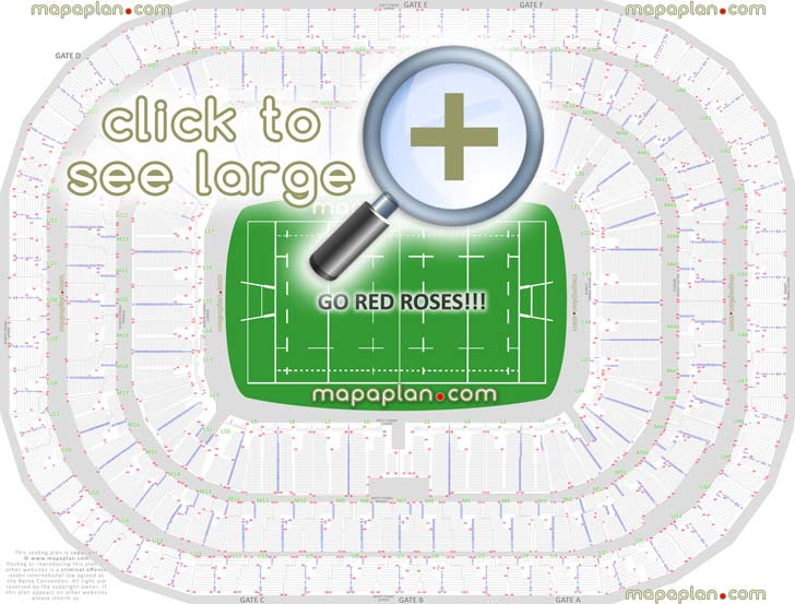 Twickenham Seating Map Twickenham Stadium seat & row numbers detailed seating chart  Twickenham Seating Map