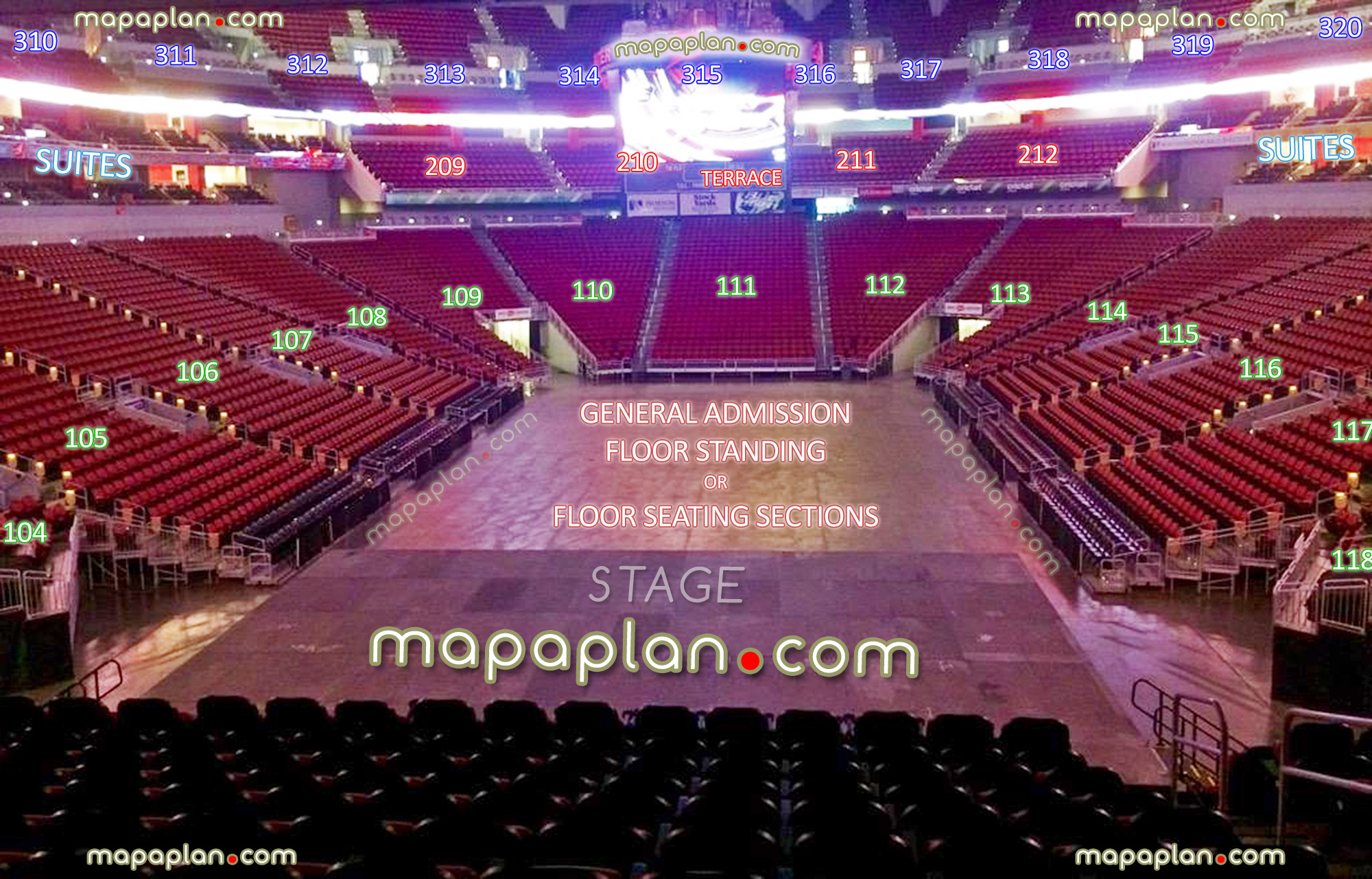 View From Stage Showing Sections Rows Seats Virtual Venue Interactive Inside Tour Concert Interior Picture 100 Lower 200 Terrace