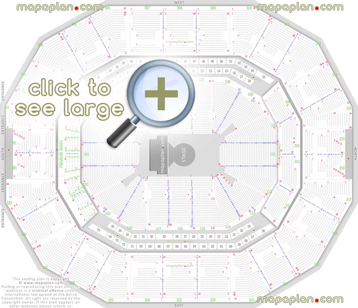 Kfc Yum  Center Seat  U0026 Row Numbers Detailed Seating Chart  Louisville