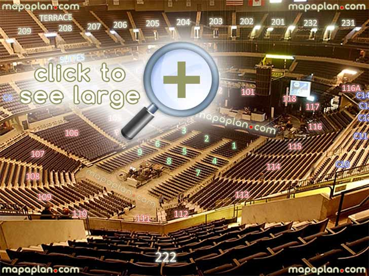 View Section 222 Row 13 Seat 8 Virtual Venue Interactive Inside Stage Review Tour Concert