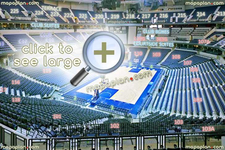 View Section 102 Row Hh Seat 6 Grizzlies Basketball Games Tournament Virtual Interactive Seats Arrangement Viewer