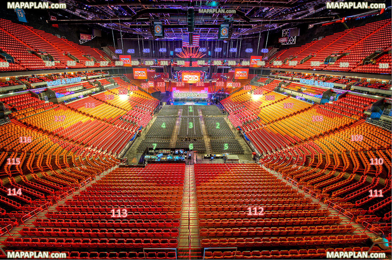 View Section 415 Row 1 Seat 19 Virtual Interactive Behind Stage Interior Aaa Tour Inside