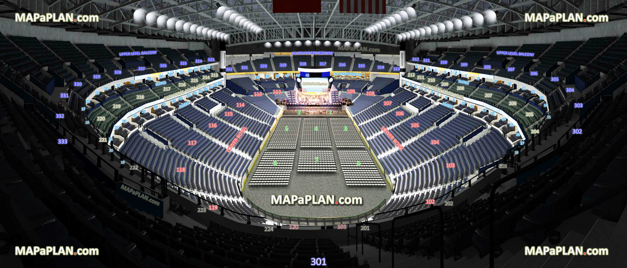 View From Section 311 Row M Seat 13 Virtual Venue Interactive Interior Tour Upper Level Inside Picture Without General Admission Ga Showing