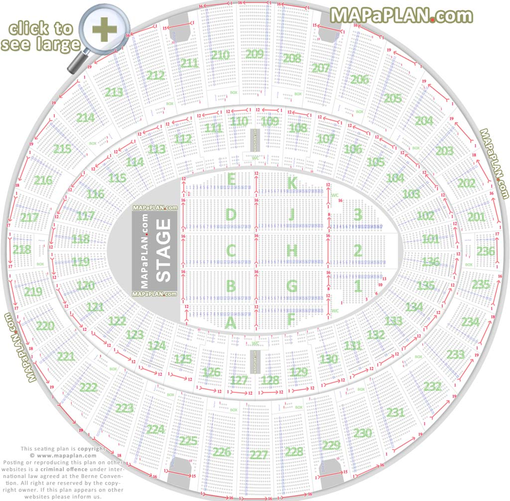 The Forum Seating Map The Forum Inglewood seat numbers detailed seating chart   LA  The Forum Seating Map