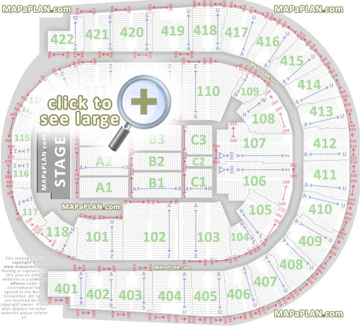 O2 Seating Map O2 Arena London seating plan   Detailed seat numbers   MapaPlan.com O2 Seating Map