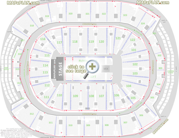 Acc Seat Map Toronto Air Canada Centre seat & row numbers detailed seating