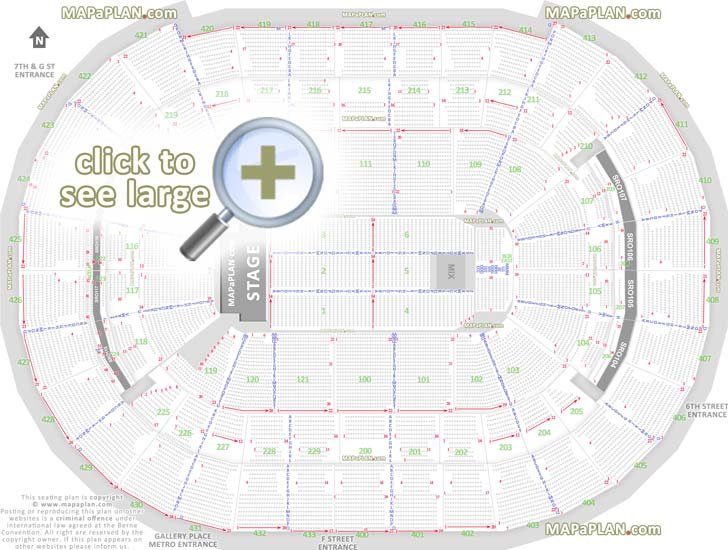 Washington Dc Verizon Center Seat
