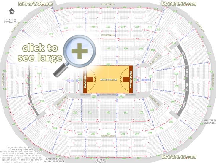 washington dc verizon center seat numbers detailed seating