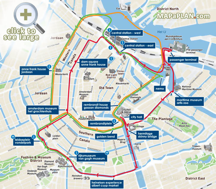 Amsterdam Maps Top Tourist Attractions Free Printable