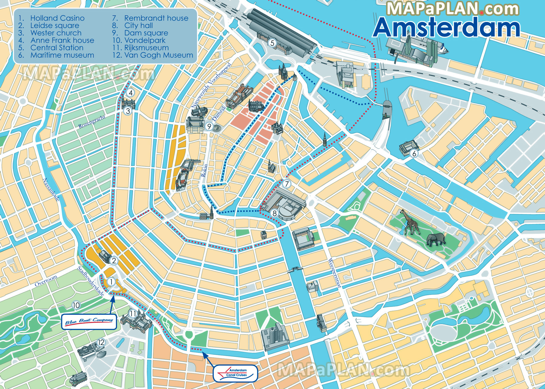 Tourist Map Of Amsterdam Amsterdam maps   Top tourist attractions   Free, printable city  Tourist Map Of Amsterdam