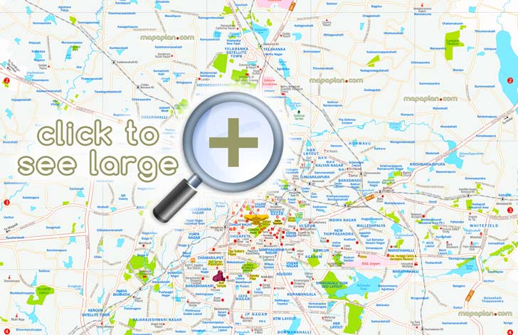 Bangalore City Map Pdf Bangalore maps   Top tourist attractions   Free, printable city