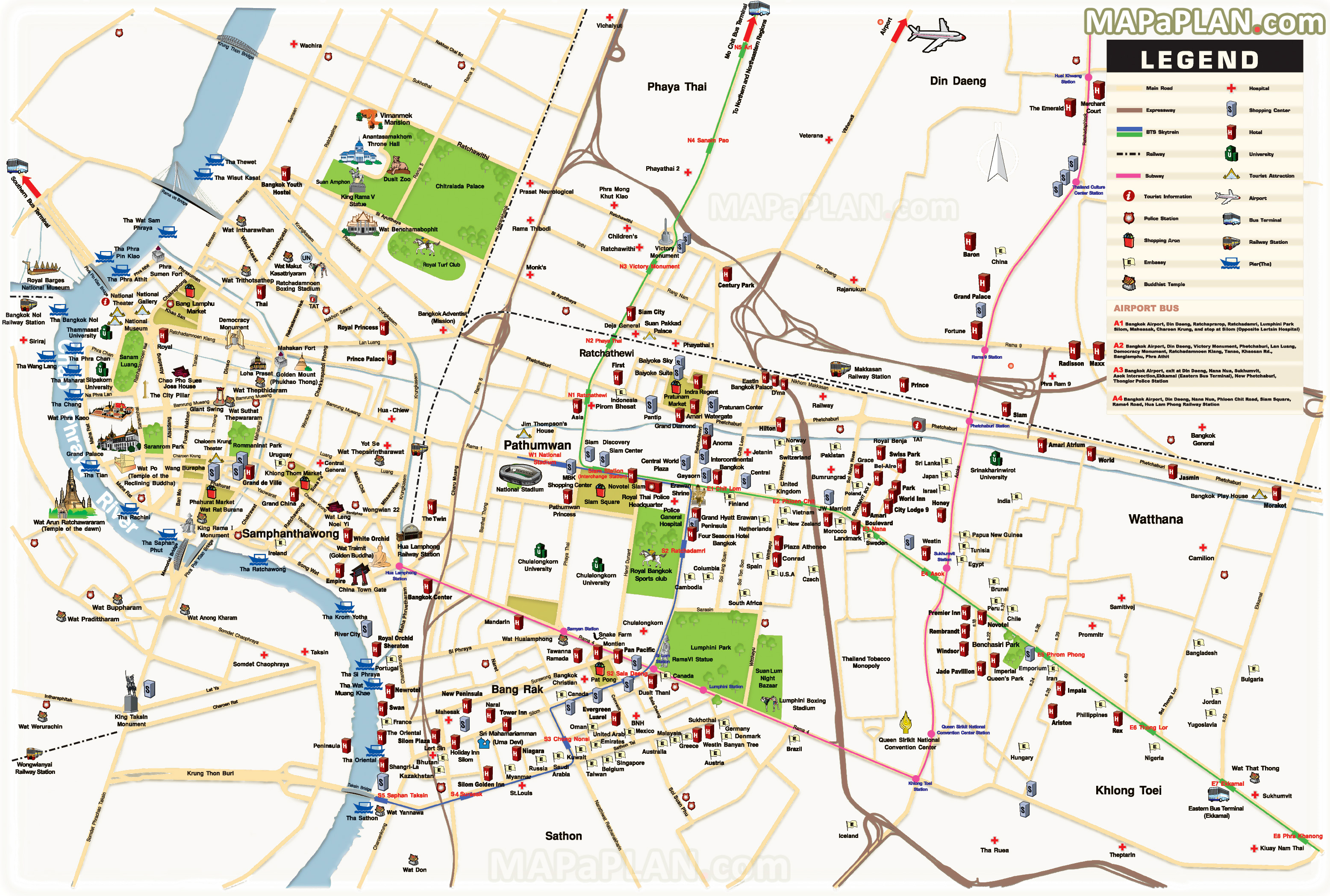 Thailand Tourist Map Pdf
