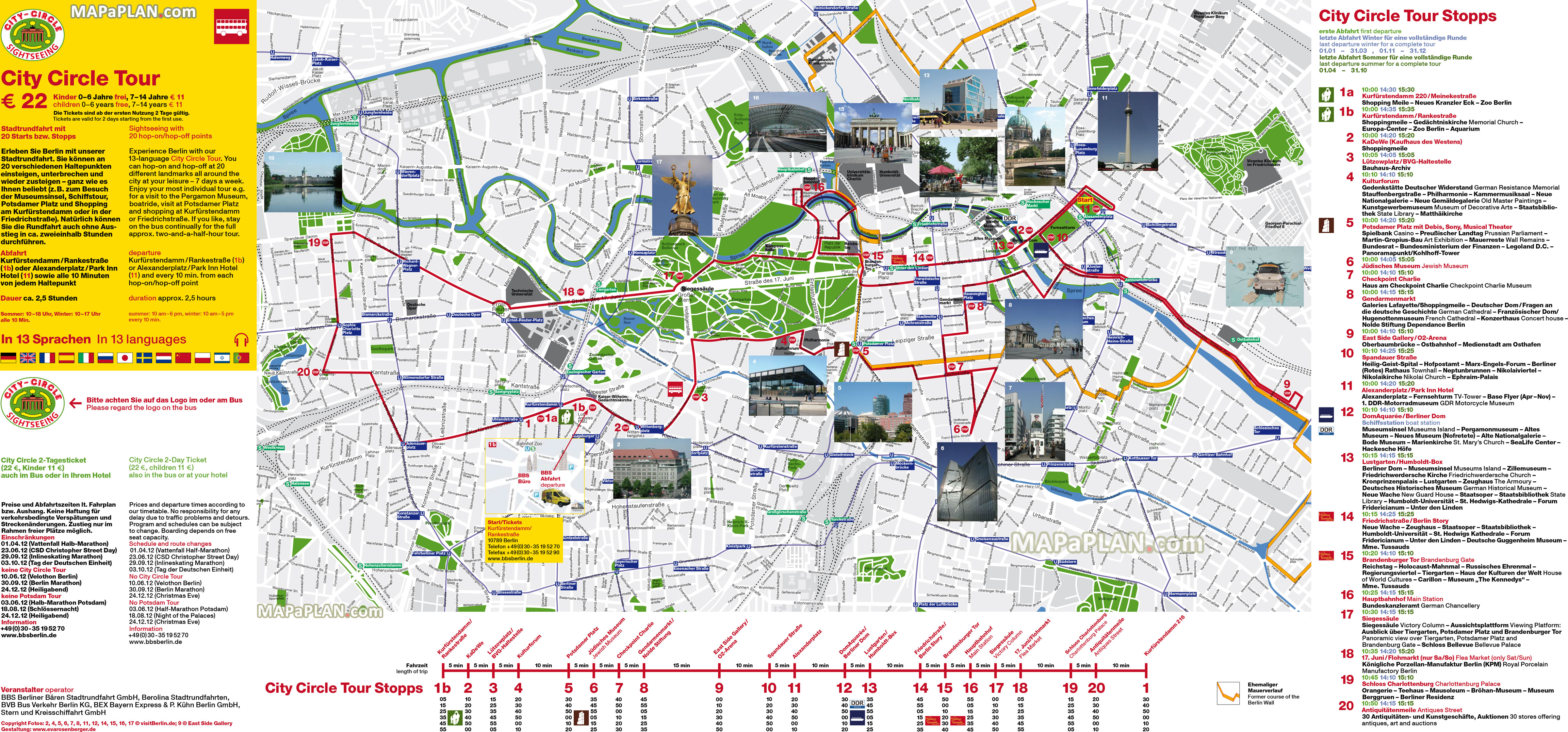 Berlin Tourist Map Berlin maps   Top tourist attractions   Free, printable city