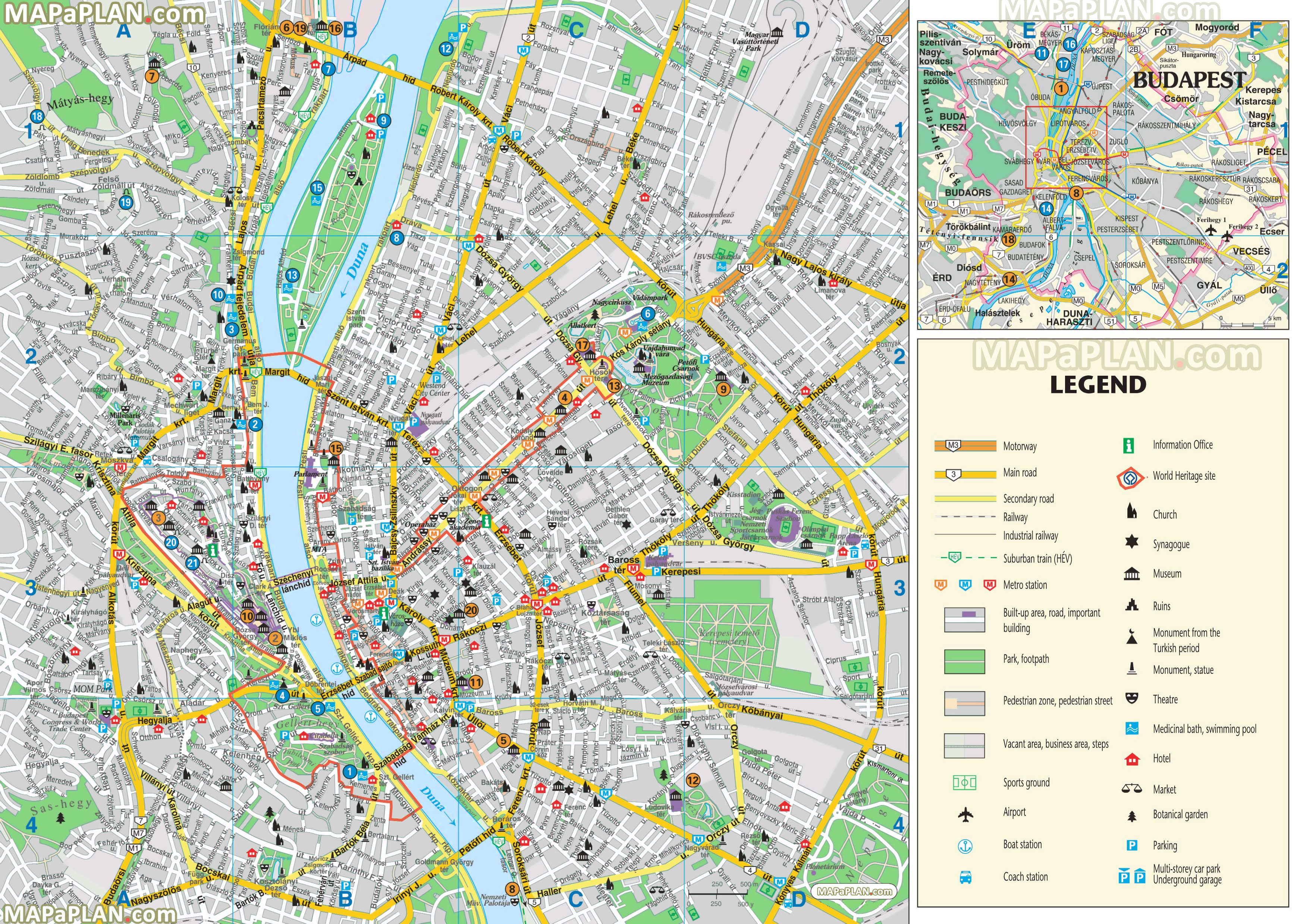 Budapest Tourist Map Budapest maps   Top tourist attractions   Free, printable city  Budapest Tourist Map