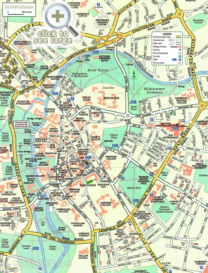 Map Of Cambridge City Centre Cambridge maps   Top tourist attractions   Free, printable city  Map Of Cambridge City Centre