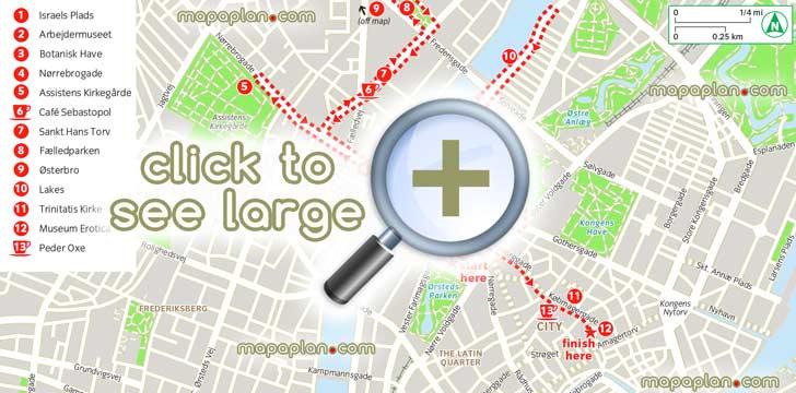 copenhagen maps - top tourist attractions