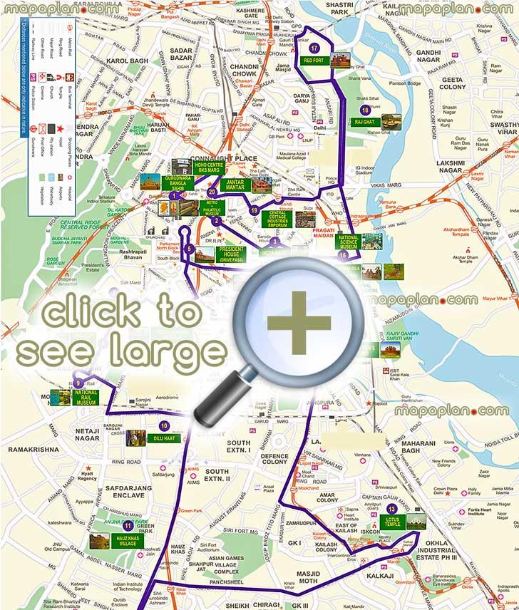 delhi maps - top tourist attractions