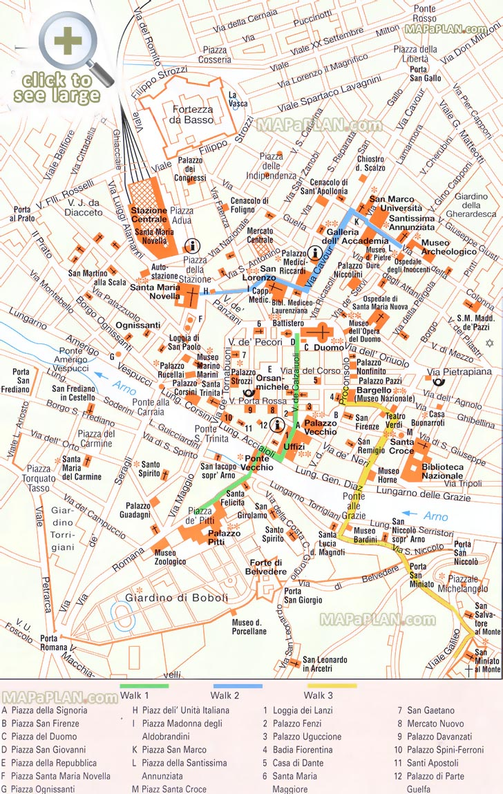 Image Result For Florence Tourist Map
