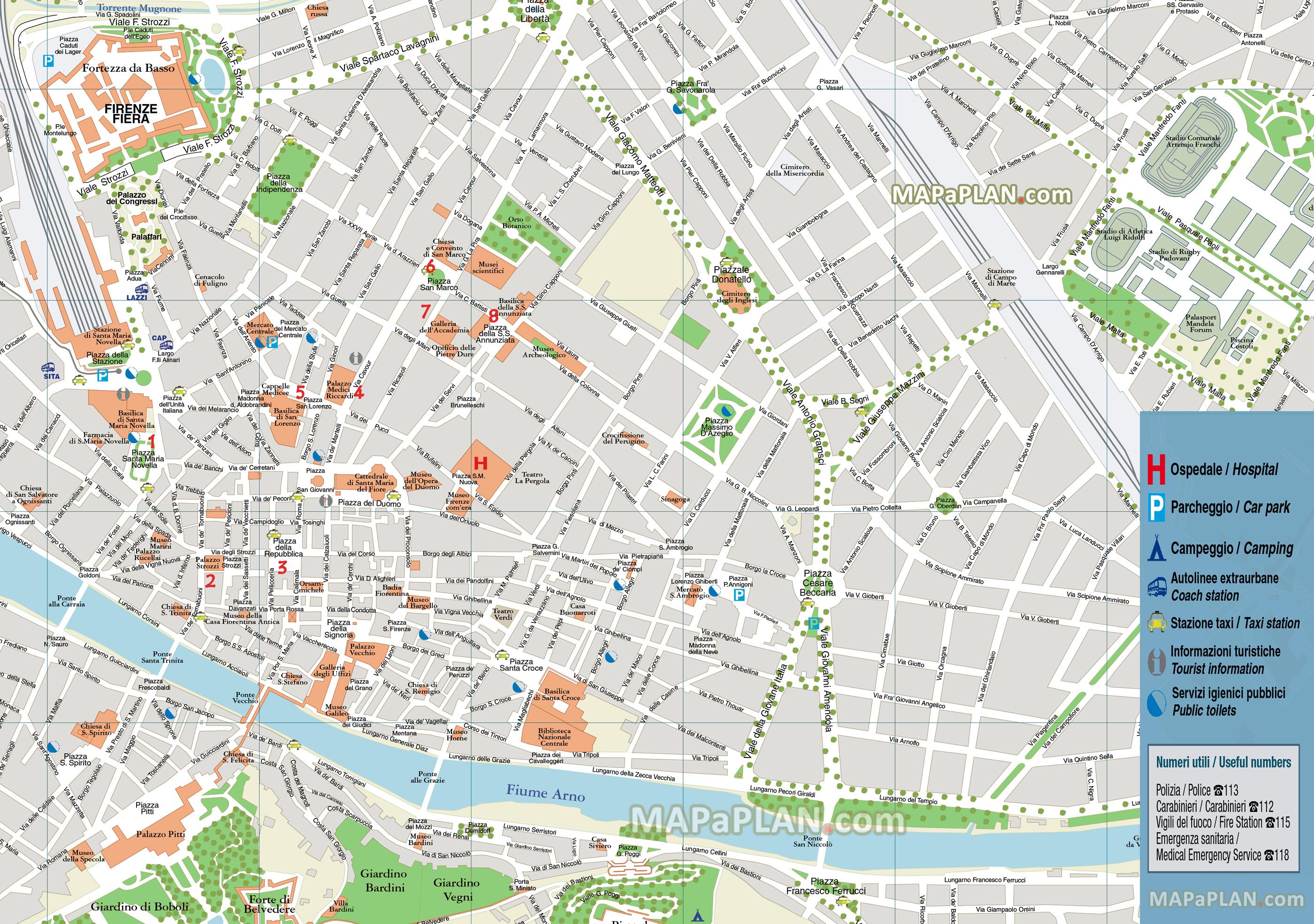 Florence Map Pdf