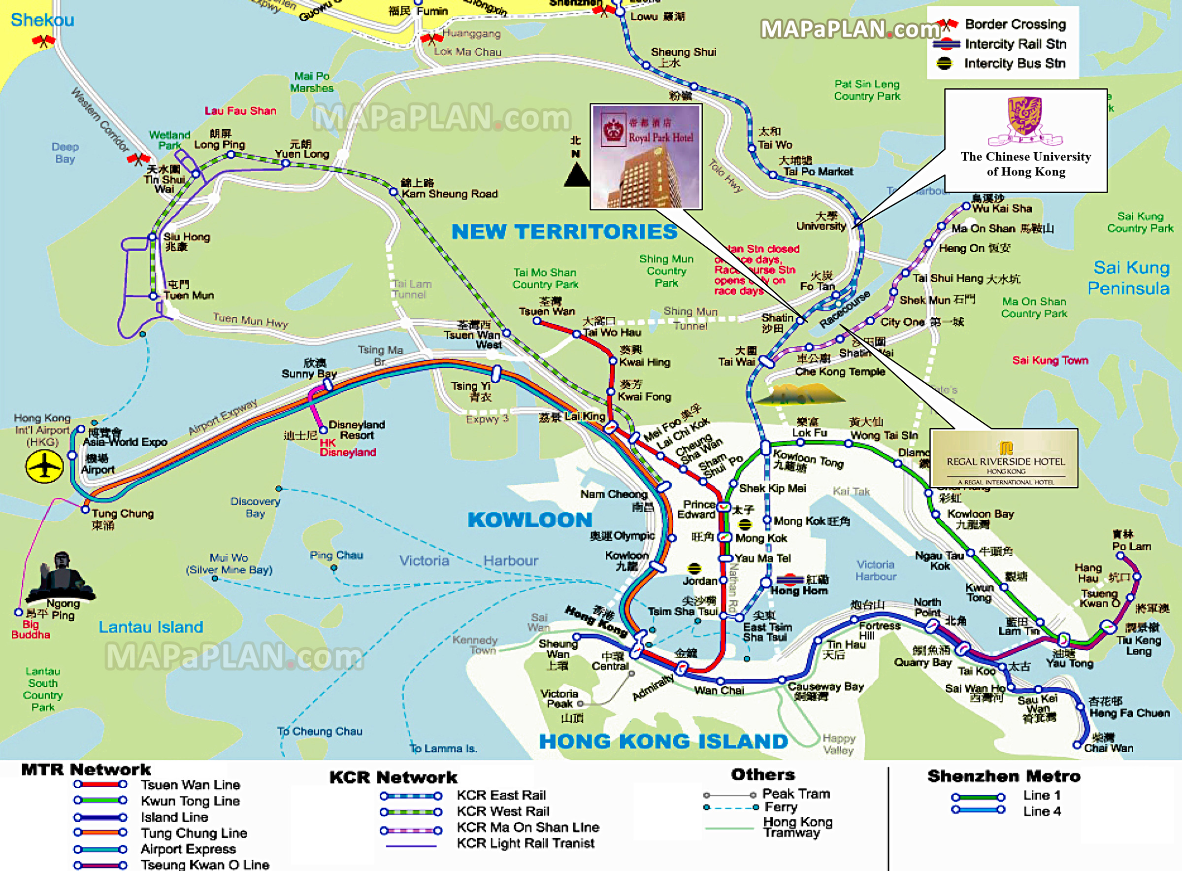 Map Of Hong Kong Tourist Attractions Hong Kong maps   Top tourist attractions   Free, printable city