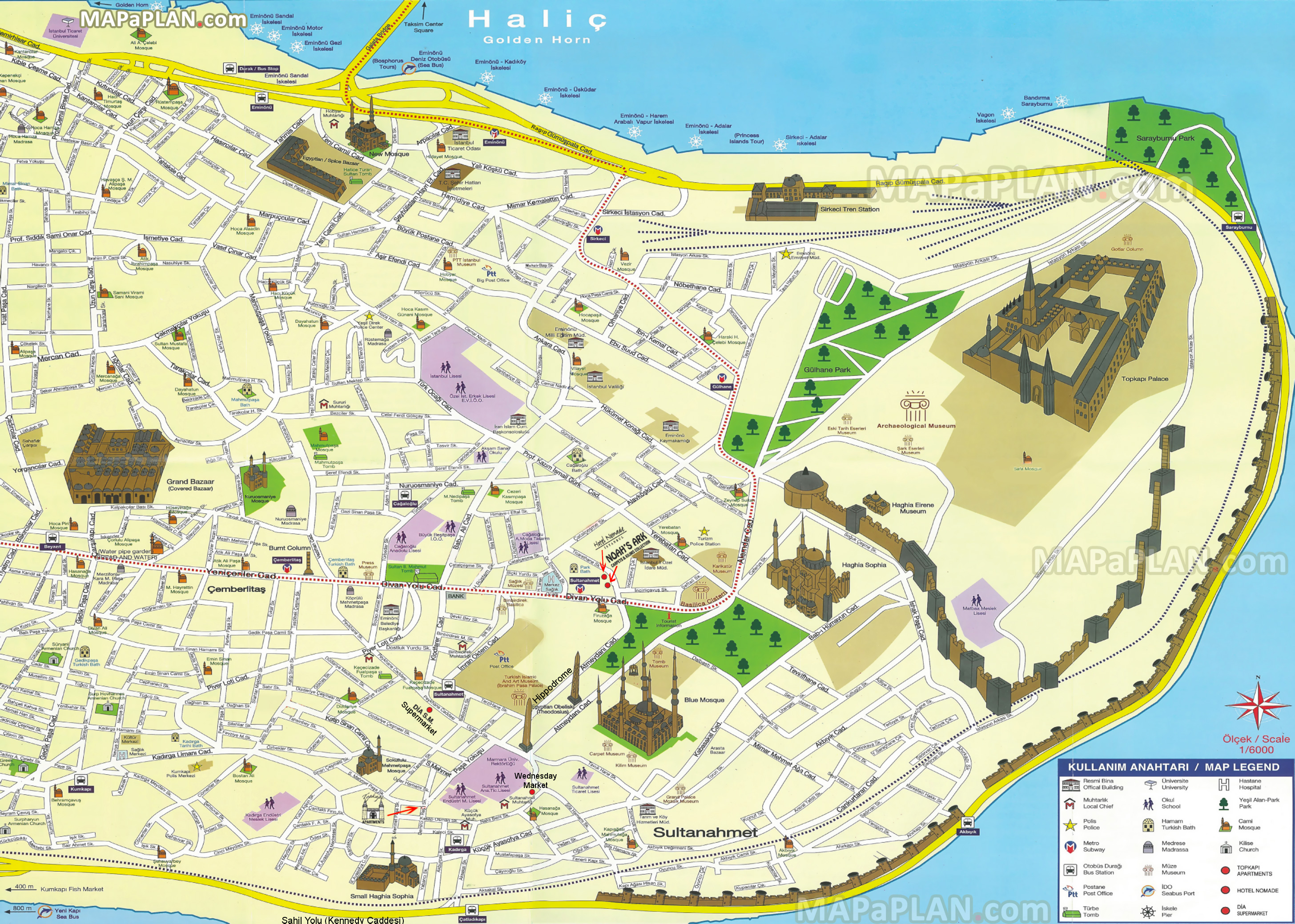 Istanbul Tourist Map Pdf