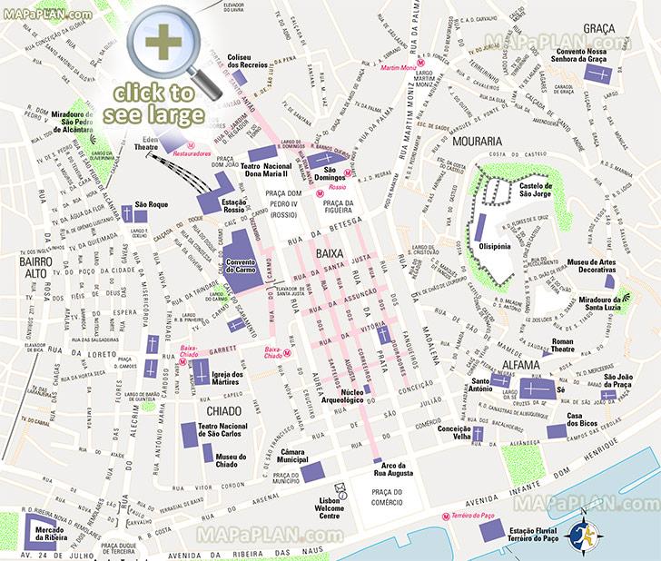 mapa lisboa 3d Lisbon maps   Top tourist attractions   Free, printable city  mapa lisboa 3d