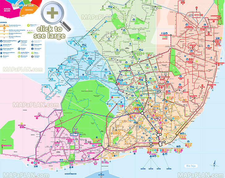 mapa carris pdf Lisbon maps   Top tourist attractions   Free, printable city  mapa carris pdf