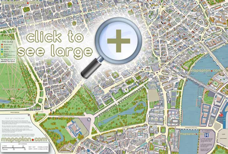 London Maps - Top Tourist Attractions - Free  Printable City Street Map