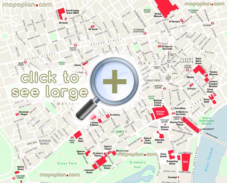 Map Of London With Attractions.Map Of London England Tourist Attractions Tourism Company And