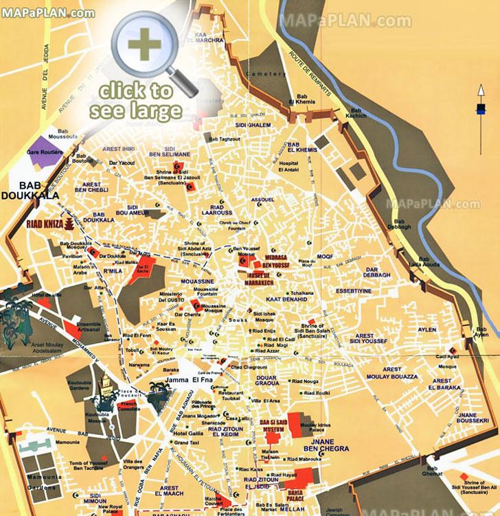 marraquexe mapa Marrakech maps   Top tourist attractions   Free, printable city  marraquexe mapa
