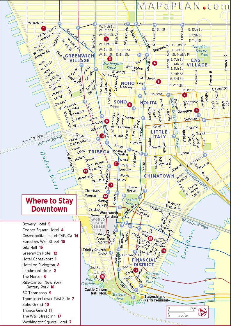 Downtown Manhattan Hotels New York Top Tourist Attractions