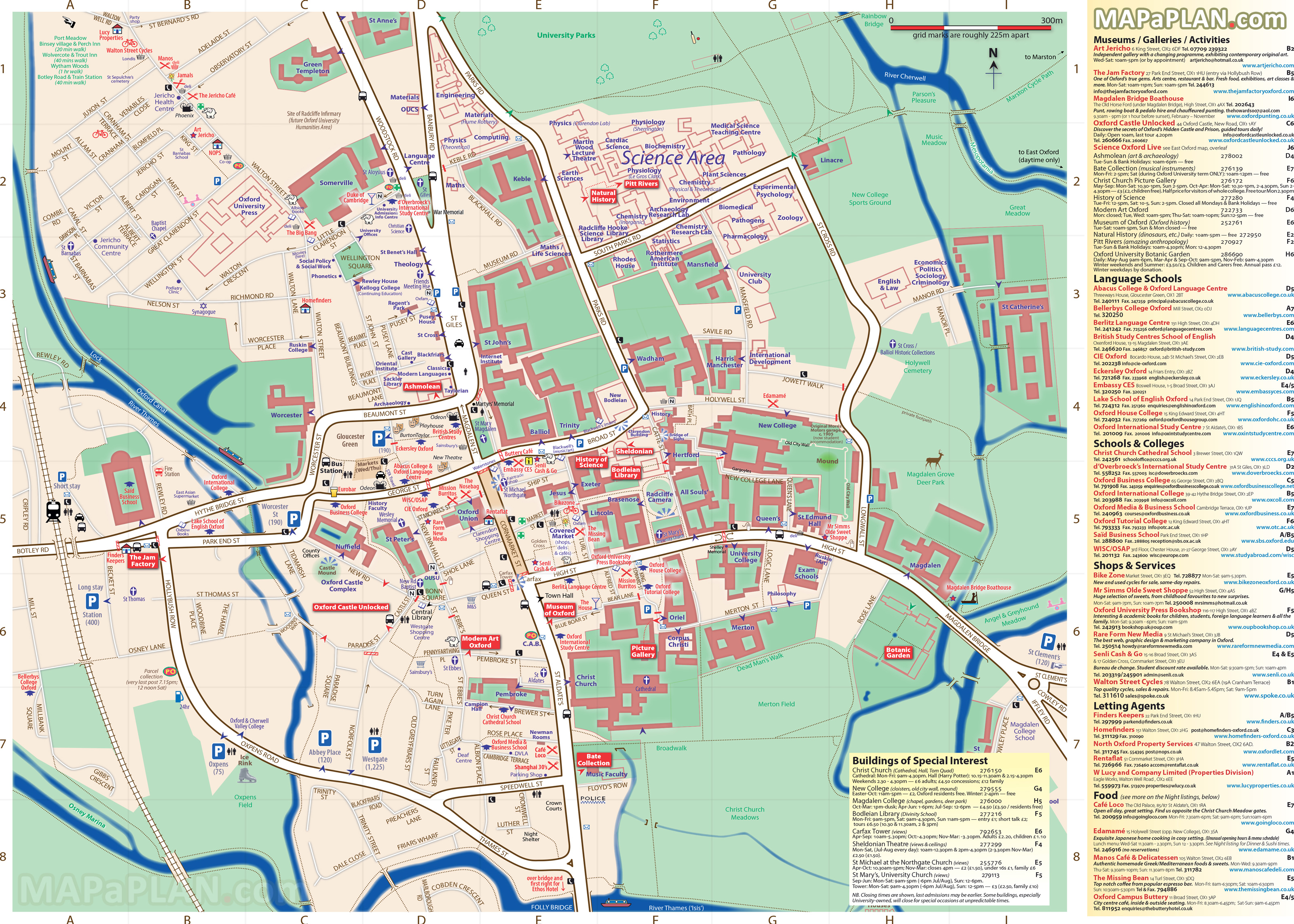 Map Of Oxford Oxford maps   Top tourist attractions   Free, printable city  Map Of Oxford