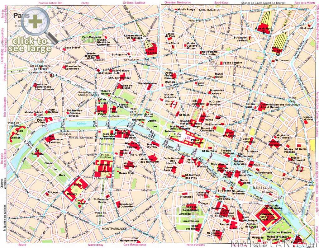 Attraction Paris Tourist Spots