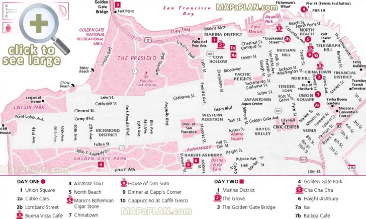 San Francisco Maps Top Tourist Attractions Free