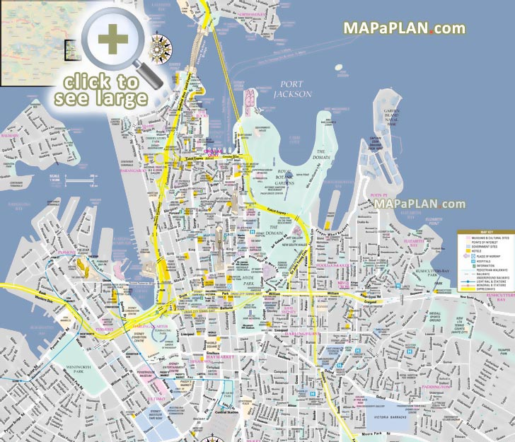 Sydney City Map Sydney maps   Top tourist attractions   Free, printable city  Sydney City Map