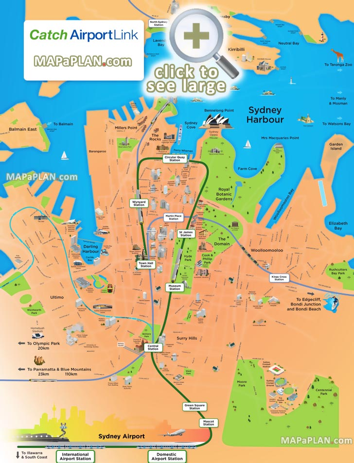 sydney maps - top tourist attractions